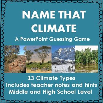 Climate Types Quiz