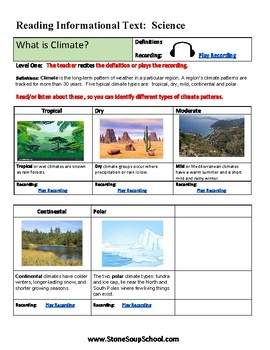 Grades 3 - 5 - Gifted and Talented - Climate Types