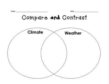 Climate/Weather Compare and Contrast