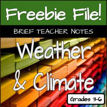 Climate & Weather Teacher Notes