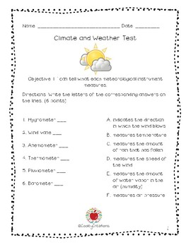 Climate & Weather Test - BILINGUAL BUNDLE