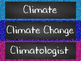 Climate Word Wall