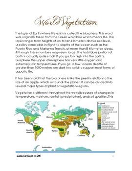 Climate: World Vegetation (plants)