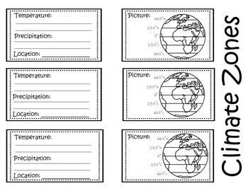 Climate Zones -  Interactive Notebook / Foldable