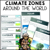Climate Zones Maps Vocabulary Cards and Posters