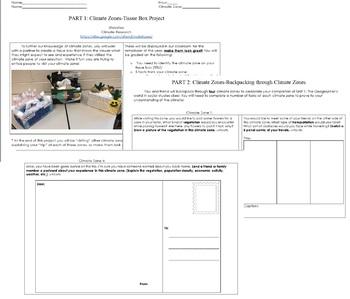 Climate Zones Tissue Box Project