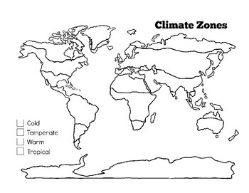 Climate Zones Worksheet