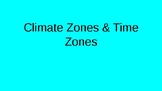 Climate Zones and Time Zones