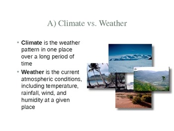 Climate, an Introduction- World Geography