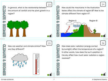 Climate and Biomes Task Cards