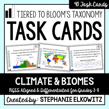 Climate and Biomes Task Cards (Differentiated and Tiered)