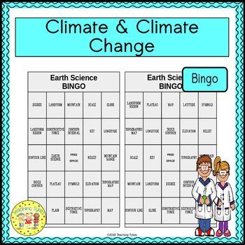 Climate and Climate Change Bingo