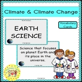 Climate and Climate Change Vocabulary Cards
