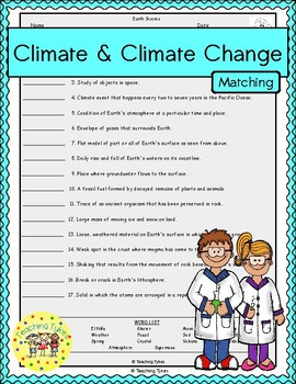 Climate and Climate Change Matching