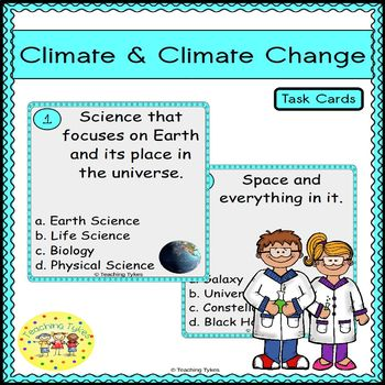 Climate and Climate Change Task Cards