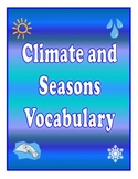 Climate and Seasons Vocabulary Cards