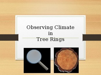 Climate and Tree Rings Activity with free lab handout in the Preview page.