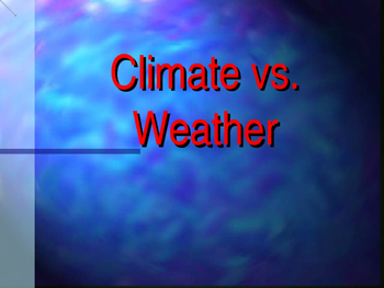 Climate and Weather PPT