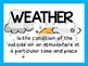 Climate and Weather Vocabulary Posters