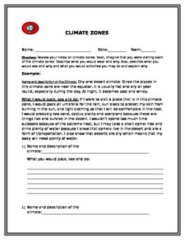 Climate and weather notes