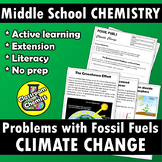 Climate change - the problems with fossil fuels activity & worksheet MS-ESS3-5
