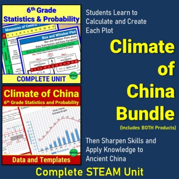 Climate of China - 6th Grade Statistics and Probability Cross Curricular Bundle