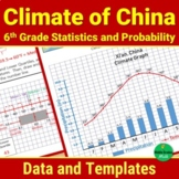 Climate of China Data and Graph Templates - 6th Grade Stat