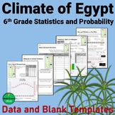 Climate of Egypt Data and Graph Templates - 6th Grade Stat