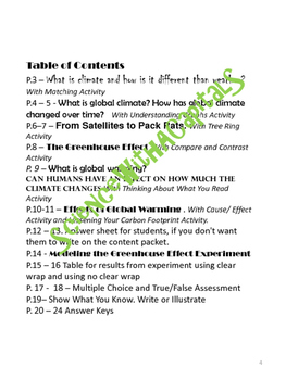 Content Reading: the Greenhouse Effect, Climate Change, and Global Warming