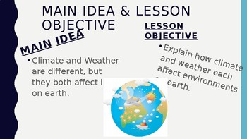 Climate verses Weather PowerPoint