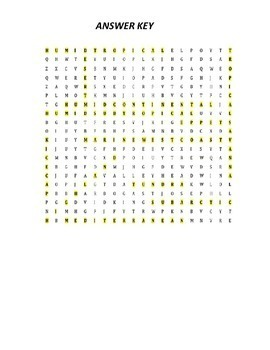 """Climates of the World """"Word Search"""""""