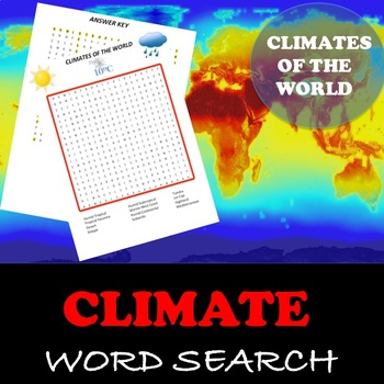 "Climates of the World ""Word Search"""