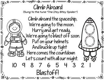Climb Aboard the Spaceship (Pocket Chart Activity)
