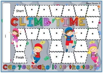 Climb Time - Blank Board Game (EDITABLE)