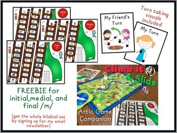 Climb it & Slide Articulation Game Companion FREEBIE