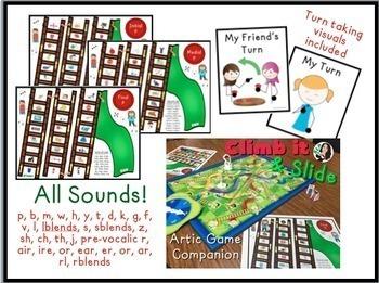 Climb it & Slide Articulation Game Companion BUNDLE
