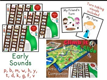 Climb it & Slide Articulation Game Companion EARLY Sounds