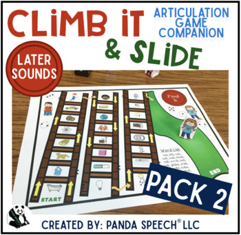 Climb it & Slide Articulation Game Companion LATER Sounds
