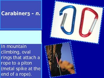 Climb or Die Vocabulary Powerpoint