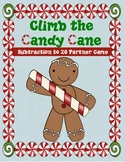 Climb the Candy Cane Subtraction to 20 Game