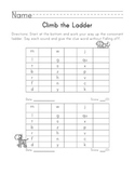 Climb the Consonant Ladder