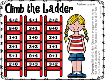 Climb the Ladder Addition 1-6 Dice Game