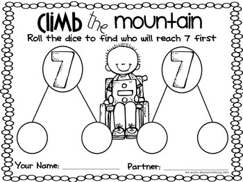 Climb the Mountain: A Math Roll The Dice Addition Game