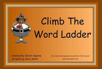 Climb the Word Ladder Thanksgiving