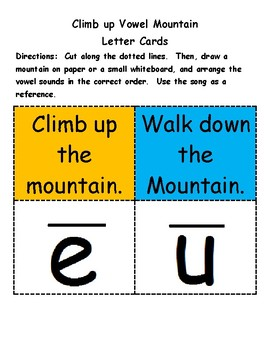 Climb up Vowel Mountain