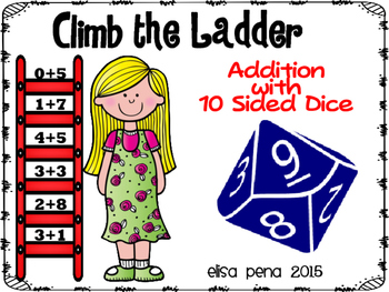 Climb the Ladder Addition 1-10 Dice Game