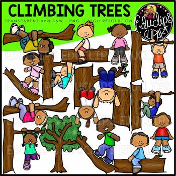 Climbing Trees Clip Art Bundle {Educlips Clipart}