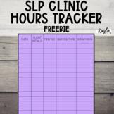 Clinic Hours Sheet {SLP Undergrad/Grad Students}
