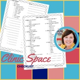 Clinic Space Checklist