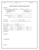Clinical Observations Checklist - Physical Therapy